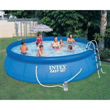 15 x 42 Above-Ground Easy Setup Outdoor Swimming Pool Set w Ladder & Filter
