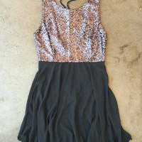 Whimsy & Sparkle Dress in Charcoal [3545] - $36.00 : Vintage Inspired Clothing & Affordable Fall Frocks, deloom   Modern. Vintage. Crafted.