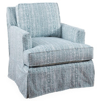 Vera Swivel Chair, Blue, Club Chairs