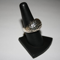 Thick Chunky Vintage Sterling Silver Ring Size 8- free ship US $50