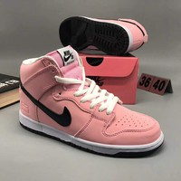 Nike Dunk High Elite High Tops Contrast Sports shoes Pink G-CSXY