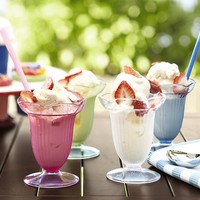Ice Cream Fountain Cups & Spoons