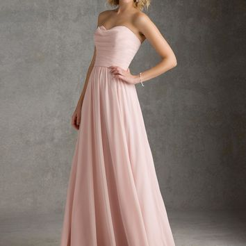 Bridesmaid Dress with Ruffles and Flyaway Overskirt   Style 20426   Morilee
