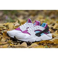 Nike AIR HUARACHE RUN PRM Black White Purple Blue Women WMNS