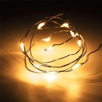 1M 10 LED String Christmas Lights Fairy Battery  Outdoor Multicolor Copper Cable Wire Party Wedding Decor Lamp Waterproof