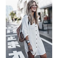 White Sands Shirt Dress
