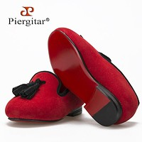 New style Shoe same men loafers design child velvet tassel shoes handmade cotton comfortably insole child party loafers