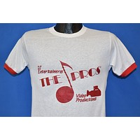 "80s DJ Entertainers ""The Pro"" Video Productions t-shirt Small"