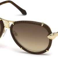 Roberto Cavalli - RC885S Mebsuta Shiny Rose Gold Sunglasses / Brown Mirror Lenses