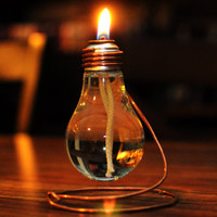 Light Bulb Oil Lamp.