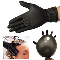 10pcs Disposable Black Laboratory Gloves Medical Tattoo Cleaning Supplies Household Tattoo Accessories Nitrile Rubber Glove