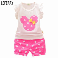 Cute Toddler Girl Clothing Sets Summer Style Sleeveless Little Girls Clothes Set Kids Clothes Dot Shorts Baby Girl Clothing Set