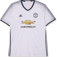 Adidas Manchester United FC Official 2016/17 SS Third Jersey - Adult - White/Bold Onix