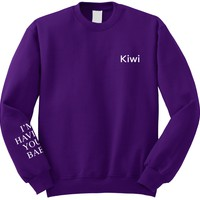 "Harry Styles ""Kiwi / I'm Having Your Baby SLEEVE"" Crew Neck Sweatshirt"