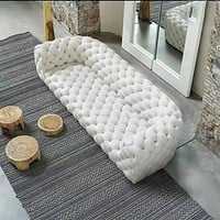 European Style Modern Designed Tufted Leather Sectional Sofa