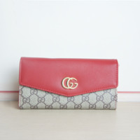 GUCCI Women Fashion Leather Purse Wallet