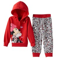 Disney's Minnie Mouse Bow Hoodie & Pants Set - Toddler Girl, Size: