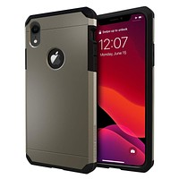 IMPACTSTRONG iPhone XR Case, Heavy Duty Dual Layer Protection Cover Heavy Duty Case for iPhone XR 2018 6.1 inch (Gun Metal) Gun Metal