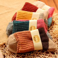 Brand Winter Women High Quality National Wind Vintage Rabbit Wool Socks For Woman Thermal Thickening Warm Socks New Arrival