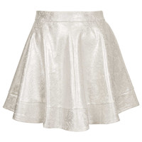 Cream Foil Lace Skater Skirt - Modern Nights - Clothing - Topshop USA