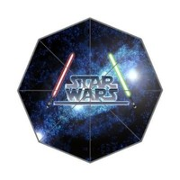 Custom Star Wars Pattern Fashion Sunny Rainy Waterproof Umbrella