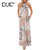 Kuk 5 Color Boho Maxi Dress Women Vestido Longo Hippie Chic Bohemian