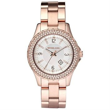 Michael Kors Rose Gold with White Dial Womens Watch