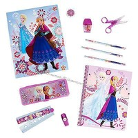 Licensed cool Disney Store Frozen ELSA ANNA 11PC Stationery School Supply Kit Case Notebook