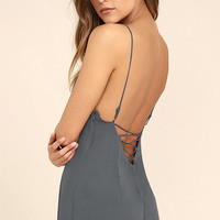 Tavik Liza Slate Blue Lace-Up Romper