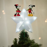 Mickey and Minnie Mouse Light-Up Tree Topper - Holiday | Disney Store