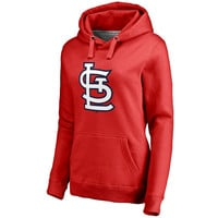 Women's St. Louis Cardinals Red Team Color Primary Logo Pullover Hoodie