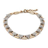 J.Crew Womens Crystal Triangle Necklace