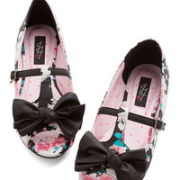 ModCloth Quirky Show Me the Bunny Ballet Flat