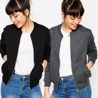 ASOS The Bomber Jacket In Jersey 2 Pack Save 10% at asos.com