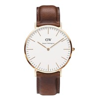Daniel Wellington Men's 0106DW St. Mawes Stainless Steel Watch with Brown Band