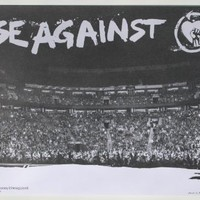 """RISE AGAINST RARE 2007 LITOGRAPH POSTER """"Live On Stage Picture"""" 17X11"""