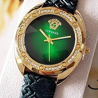 Versace new personalized quartz watch with diamond case