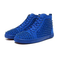 Christian Louboutin Women Men Fashion Casual Sneakers Sport Shoes-38