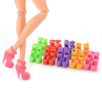 20 Pcs 10 Pairs Colorful Assorted Shoes for Barbie Doll Best Gift for Girl ULS17