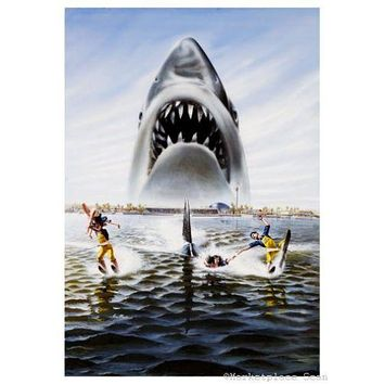 Jaws 3D Movie Poster 11 inch x 17 inch poster textless art 11 inch x 17 inch poster