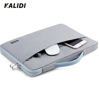 KALIDI 11 12 13 14 15 Inch Laptop Bag Waterproof For Men Women Notebook Sleeve Bag 13.3 15.6 Inch Computer Bag for Macbook