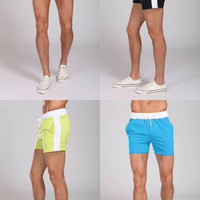 Sexy Mens Shorts Sport Boxer Gym Wear Cotton casual active Beach Surf Swimwear 2016 Swimming pants trunks bermuda masculina