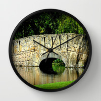 One Sunny Day Wall Clock by Chris Chalk | Society6