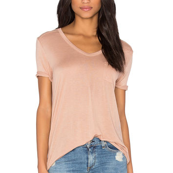 T by Alexander Wang Classic Tee with Pocket in Blush