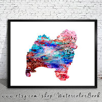 Pomeranian 5 Watercolor Print, Pomeranian art, watercolor, Home Decor, dog watercolor, watercolor painting, animal watercolor, dog painting