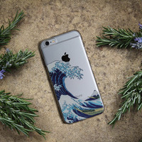 WAVE PHONE CASE, The Great Wave off Kanagawa iPhone 6/s or Plus Case Design