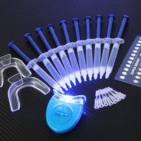 Professional At Home 3D Teeth Whitening Kit - With LED Accelerator Light and 44% Peroxide Gel