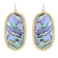 Kendra Scott Danielle Drop Earrings Abalone Shell