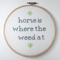 Home Is Where The Weed At- White