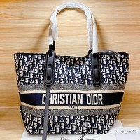 Hipgirls Dior New fashion more letter shoulder bag crossbody bag handbag two piece suit